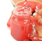 Smoothies of watermelon Stock Image