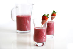 Smoothies on white Royalty Free Stock Photo