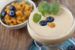 Smoothies z moroszkami i czarną jagodą Fotografia Royalty Free