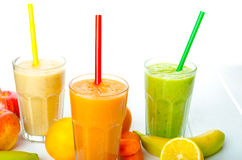 Smoothietag, Zeit für gesundes Getränk Stockfoto