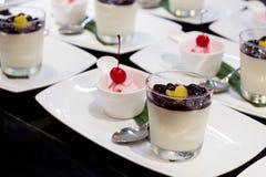Smoothieyoghurt en roomijs Royalty-vrije Stock Afbeeldingen