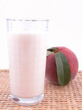 smoothite персика Стоковое Изображение RF