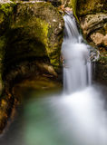 Smoothly flowing stream of water. In the spring Royalty Free Stock Image