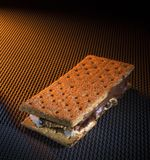 Smore avec l'orange chaud Photographie stock libre de droits