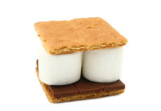 Smore (Marshmallow, Chocolate, Graham Cracker) Royalty Free Stock Images