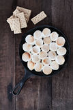 Smores Bad und Graham Crackers Lizenzfreies Stockfoto