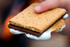 Smores at a campfire Royalty Free Stock Image