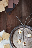 Smores and Ingredients Royalty Free Stock Photo