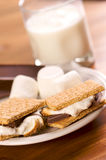 Smores and Milk Stock Photography