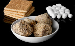 Smores truffles with ingredients Stock Photography