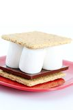 Smores on White Background Stock Image