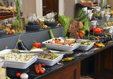 Smorgasbord - food choice. In a restaurant royalty free stock photography