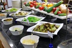 Smorgasbord - food choice. In a restaurant royalty free stock photo