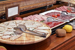 Smorgasbord - food choice in a restaurant Royalty Free Stock Photo