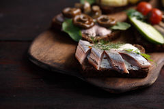 Smorrebrod-open sandwiches Stock Image