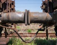 Smorzatore di vibrazione di un treno merci Fotografie Stock Libere da Diritti