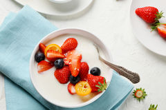 Smothie bowl with berry Stock Images