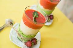 Smothie strawberries with banana Royalty Free Stock Photo