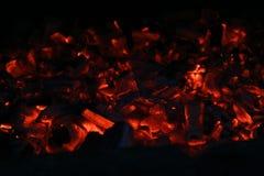 Smoulder charcoal texture Stock Photos