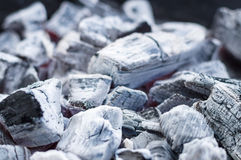 Smouldering charcoal blurred background Royalty Free Stock Image