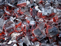 Smouldering charcoals Royalty Free Stock Photos