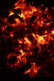 Smouldering embers Royalty Free Stock Image