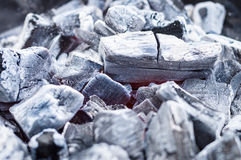 Smouldering grill charcoal Stock Photography