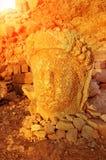 SMount Nemrut la tête devant les statues Le site de patrimoine mondial de l'UNESCO chez le mont Nemrut où le Roi Antiochus de Com image libre de droits