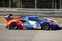 SMP Ściga się Ferrari przy Monza 488 GT3 Zdjęcie Royalty Free