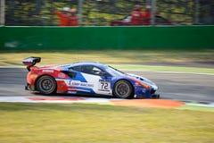 SMP som springer Ferrari 488 GT3 på Monza Arkivbilder