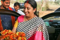 Smriti Irani Indian-Politiker Stockfotografie