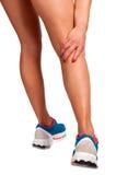 Smärta i lägga benen på ryggen Arkivbilder