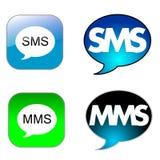 sms иконы Стоковые Фото
