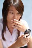 sms 1 девушки Стоковое Изображение RF