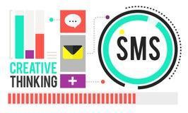 Sms数字式传讯通讯技术概念 库存图片