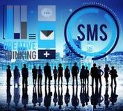 Sms数字式传讯通讯技术概念 图库摄影