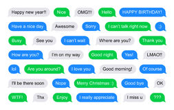 SMS bubbles short messages Stock Image
