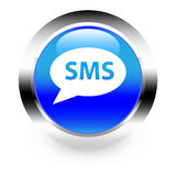 SMS button Stock Photo