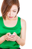SMS on cellphone. Royalty Free Stock Image
