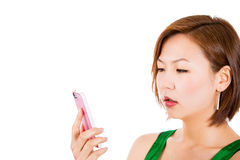 SMS on cellphone. Royalty Free Stock Images