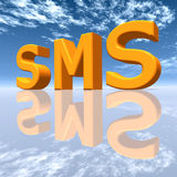 SMS. Computer generated 3D illustration with the letters SMS Stock Photos