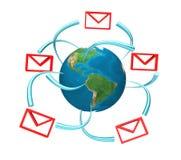 sms d'email Images libres de droits