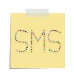 SMS de los posts Fotografía de archivo