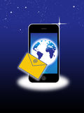 Sms de service de message court Photo stock
