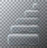 Sms de vecteur ou icônes modernes en verre de message La parole de bulle Photographie stock libre de droits