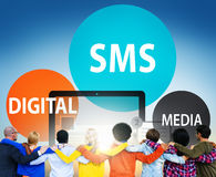 SMS Digital Media Message Chatting Communication Concept Stock Image