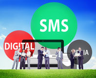 SMS Digital Media Message Chatting Communication Concept Stock Images