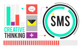 Sms Digital Messaging Communication Technology Concept Stock Image