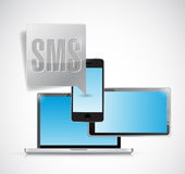 Sms electronics bubble illustration Royalty Free Stock Photo
