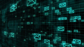Sms, Email and Envelope icons in motion Royalty Free Stock Photography